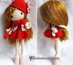 How to make a hair doll amigurumi (5) ♡ lovely doll