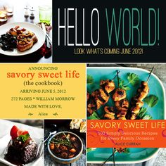 Exciting news! Savory Sweet Life Cookbook is going to be published June 5, 2012 by HarperCollins!