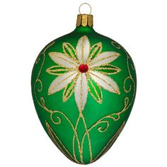 Holiday Heirlooms Traditional Emerald Egg Ornament