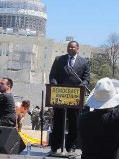 Speaker from Flint Mich.  Democracy Awakening Rally,March 4/17/2016