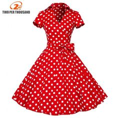 Vintage Polka Dot Dresses - 50s Spotty and Ditsy Prints in 2019 ... 45e583f63754