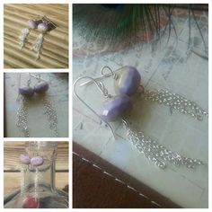 Lavender and Silver Dangle Earrings by SomethingSeaBlue on Etsy, $25.00