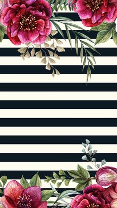 Roses and black and white stripes wallpaper print art Flower Backgrounds, Flower Wallpaper, Screen Wallpaper, Phone Backgrounds, Wallpaper Backgrounds, Cellphone Wallpaper, Iphone Wallpaper, Invitation Background, Flower Frame
