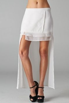salediem.com Cool summer fashions Shipping Free  Multi layered cocktail skirt has a hi-lo hem with an asymmetrical flair