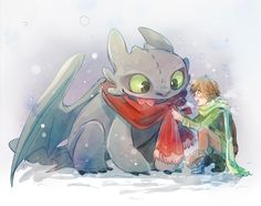 HICCUP & TOOTHLESS by Kadeart