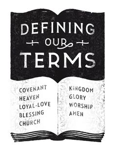 Defining Our Terms  Cover design for a monthly devotional magazine.