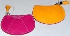 Monedero de capote en piel de Ubrique con cremallera