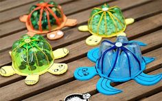 Plastic bottle crafts for kids, preschoolers and adults. Craft project ideas using water and liter bottles. How to make crafts using plastic bottles. Recycle ideas for children. Make flowers, jewelry.