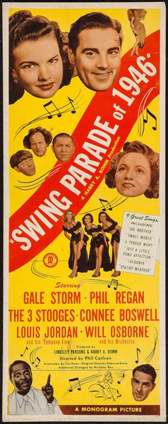 """Movie Posters:Musical, Swing Parade of 1946 (Monogram, 1946). Insert (14"""" X 36"""").Musical.. ... Image #1"""