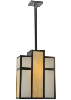 Mission Deco Contemporary 12 Inch Oah Oblong Pendant by Meyda Lighting - 112209