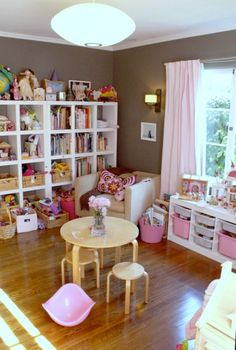 Girls bedroom and play area