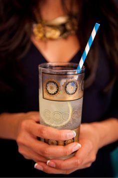 Tom Collins cocktail by Hannah Kirshner:gin, lemon juice, simple syrup, soda, lemon twist