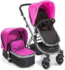 NEW Baby Roues LeTour II PINK Lightweight Compact Stroller w/ Bassinet