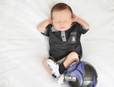 Matheus, 15 days old, concentrating for the weekend game :)