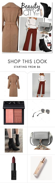 """Beauty takes the city"" by oshint ❤ liked on Polyvore featuring NARS Cosmetics and Burberry"