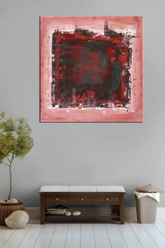 www.artnrshinga.com #abstractartforsale #abstractart Original abstract painting 30 x 30 x 1 5 Acrylic on canvas Abstract Expressionism Square abstract art Shades of pastel pink maroon beige red