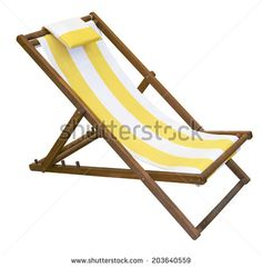 Wooden folding deck chair with foldover pillow