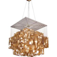 Gold Shell Chandelier
