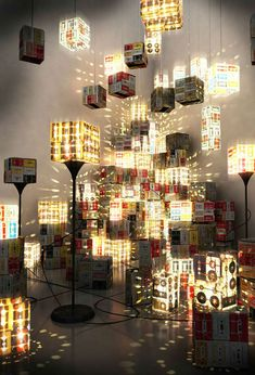 Cassette Lamp retro recycled