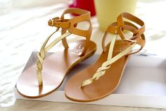 NEW IN: Strappy Thong Flat Sandals :: Ancient Greek Sandals