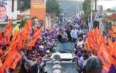 El presidente Danilo Medina recibió este viernes en este municipio extraordinarias muestras  de apoyo