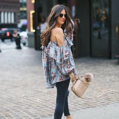 Floral and off-the-shoulder? We're in love with this top.