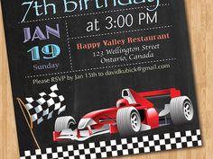 Rennen-Auto-Geburtstag-Einladung. Junge Car von arthomer auf Etsy