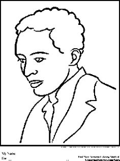 langston hughes coloring pages black history month