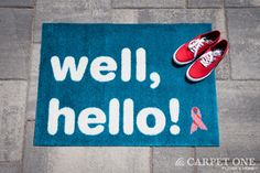 Well, Hello! | Pink Ribbon Welcome Mats