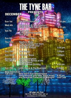 The Tyne Bar Gigs in December 2013