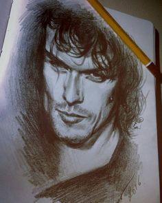 "italianoutlanders: "" #repost from @katrin__orlova . Когда я рисую портрет…"