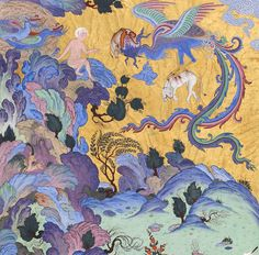 ZAL IS SIGHTED BY A CARAVAN Attributed to Abdul Aziz  Iran, Tabriz, Safavid period, ca. 1525