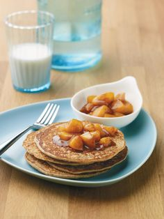 Pancakes are an easy breakfast treat. These are enchanted with the nutritional power of beans and full of whole-grain goodness! Try them with the chai-spiced peach compote for an over-the-top experience.
