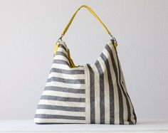 Love this stripe and the yellow strap.