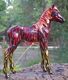 Custom Unicorn foal from a Breyer model horse || The GreenEyed Unicorn Studio I love the mane!!