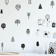 Woodland Pine Tree Wall Decor - Home Fuel Nursery Wall Decals, Vinyl Wall Stickers, Wall Decal Sticker, Nursery Art, Baby Stickers, Bear Nursery, Tree Wall Decor, Kids Wall Decor, Art Decor