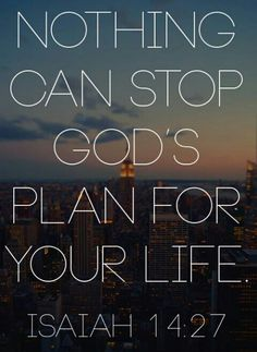 God's plan is that,