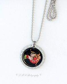 Holiday Dove Necklace Christmas Pendant by LMRPhotography2 on Etsy, $6.50