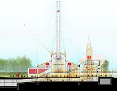 This Single, Striking Section Drawing Encapsulates Renzo Piano's Vision for Moscow's Newest Cultural Hub - Architizer