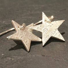 Handmade Silver Star Earrings £18 from Natalina's Jewellery on Folksy