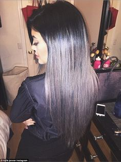Kylie Jenner was eager to show off the 50 shades of her new 'do as she took to Instagram t...