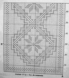 @nika Crochet Lace Edging, Crochet Doily Patterns, Needlepoint Patterns, Crochet Chart, Crochet Doilies, Crochet Stitches, Stitch Patterns, Crochet Freetress, Cross Stitch Geometric