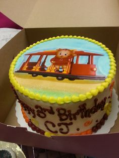 Daniel Tiger Birthday Cake.