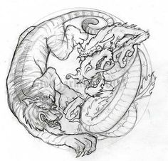 тигр дракон тату: 16 тыс изображений найдено в Яндекс.Картинках
