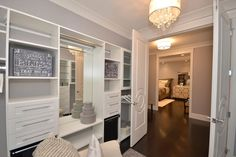 An awesome MBR closet done in our white euro shelving Custom Closet Design, Custom Closets, Master Bedroom Closet, Small Closets, Shelving, Euro, Shelf, Awesome, Top