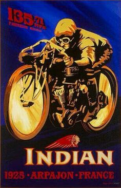 Indian Motorcycle Mph Reproduction Garage Metal Sign - Before After DIY Bike Poster, Motorcycle Posters, Motorcycle Art, Bike Art, Hd Vintage, Vintage Bikes, Old Posters, Vintage Posters, Indian Motorbike