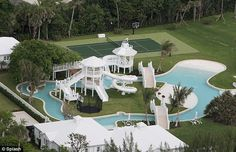 Leisurely: The lazy river, which has a current that takes people slowly along the waterCeline Dion's family home complete with water park and ocean fron in Jupiter, FL  #CelineDion #Jupiter #Florida
