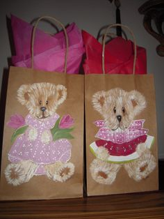 Hand Painted Bags by Elvira Nell Spring Time and Vacation time