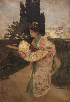 Alois Delug (Austrian, 1859-1930) : Lady K. in costume of Yum-Yum in Mikado, 1893