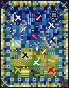 Airplane Quilt pattern from Colfax Cloth & Quilt Company